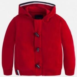 Mayoral 4497-39 Bluza chłopięca zapinana z kapturem kolor Jagoda