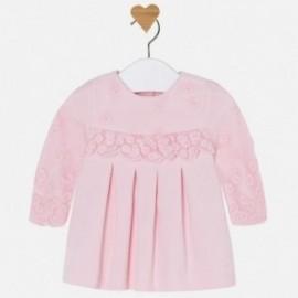 Mayoral 2821-53 Sukienka dla dziewczynki haftowana kolor róż