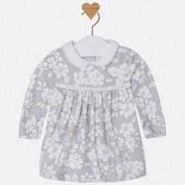 Mayoral 2827-56 Sukienka dla dziewczynki z nadrukiem kolor Perłowy