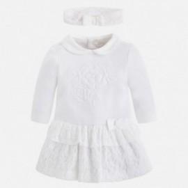 Mayoral 2815-60 Sukienka dziewczęca kolor Kremowy
