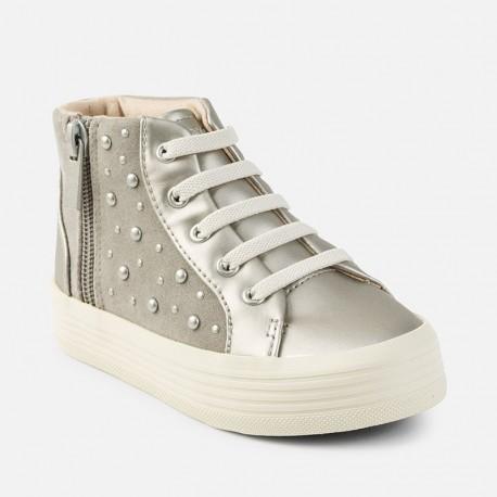 Mayoral 44757-49 Buty dziewczęce na platformie kolor Srebrny
