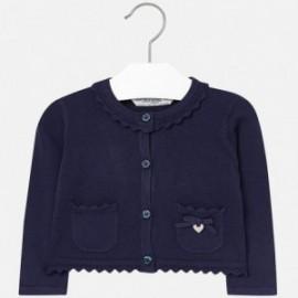 Mayoral 2337-19 Sweter dziewczęcy rozp. dzianina kolor Granatowy