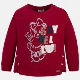 Mayoral 4419-40 Bluza dla dziewczynki aplikacje kolor czerwony