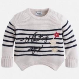 Mayoral 4317-67 Sweter dziewczęcy paski kolor Marcepan