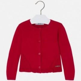 Mayoral 4331-92 Sweter dziewczęcy trykot ściągacz kolor Czerwony