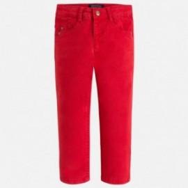 Mayoral 41-62 Spodnie chłopięce serża z kieszeniami kolor Jagoda