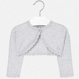 Mayoral 308-52 Sweter dziewczęcy rozpinany kolor szary