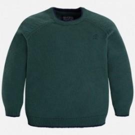 Mayoral 311-49 Sweter chłopięcy z lamówką kolor zielony