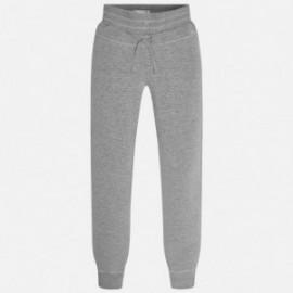 Mayoral 710-17 Spodnie dziewczęce dresowe kolor szary