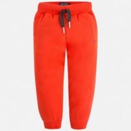 Mayoral 725-56 Długie chłopięce spodnie dresowe kolor pomarańczowy