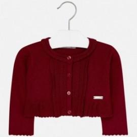 Mayoral 2335-22 Sweter dziewczęcy bolerko kolor czerwony