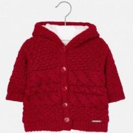 Mayoral 2339-83 Sweter dziewczęcy ocieplany kolor Czerwony