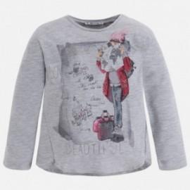 Mayoral 4047-65 Koszulka dziewczęca kolor Perłowy