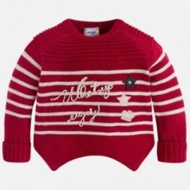 Mayoral 4317-68 Sweter dziewczęcy w paski kolor czerwony