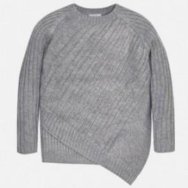 Mayoral 7313-26 Sweter dziewczęcy asymetryczny kolor szary