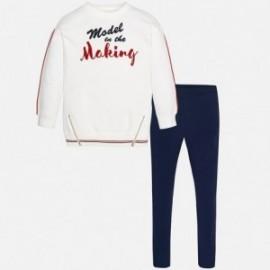 Mayoral 7737-41 Komplet dziewczęcy bluza i leginsy sportowy kolor Granatowy