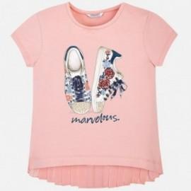 Mayoral 6012-80 Koszulka dziewczęca krótki rękaw buciki kolor Różowy