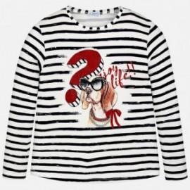 Mayoral 6056-39 Koszulka dziewczęca w paski kolor Granat