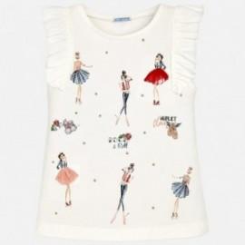 Mayoral 6064-20 Koszulka dziewczęca na ramiączkach kolor Krem