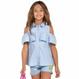 Mayoral 6116-74 Bluzka dziewczęca w paski z dżetami kolor niebieski