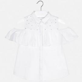Mayoral 6116-76 Bluzka dziewczęca w paski z dżetami kolor Biały