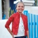 Mayoral 6416-10 Kurtka dziewczęca sztuczna skóra kolor Czerwony