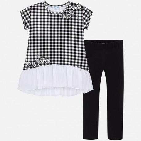 Mayoral 6710-55 Komplet dziewczęcy koszulka i leginsy kolor Czarny