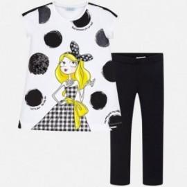 Mayoral 6712-10 Komplet dziewczęcy koszulka i leginsy kolor Czarny
