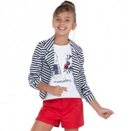 Mayoral 6012-77 Koszulka dziewczęca kolor Kremowy