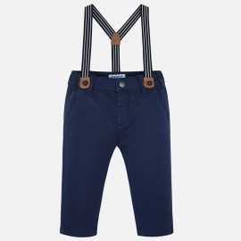 Mayoral 1542-67 Spodnie chłopięce z szelkami kolor Lazur