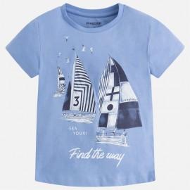 """Mayoral 3067-81 Koszulka chłopięca krótki rękaw """"sea you"""" kolor Błękitny"""
