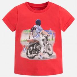 Mayoral 3069-81 Koszulka chłopięca krótki rękaw kolor czerwony