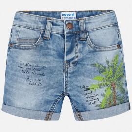 Mayoral 3264-5 Bermudy chłopięce kolor Jeans niebieski