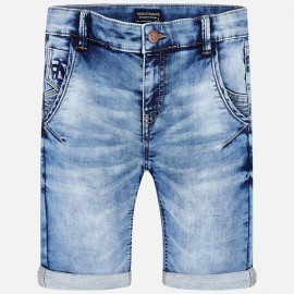 Mayoral 6254-93 Bermudy chłopięce kolor niebieski jeans