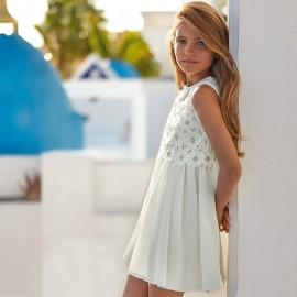 Mayoral 6924-18 Sukienka dziewczęca kolor Kremowy