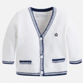 Mayoral 1306-93 Sweterek chłopięcy kardigan zapinany kolor Biały