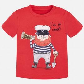 Mayoral 1054-63 Koszulka chłopięca kolor czerwony