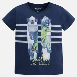 Mayoral 3063-23 Koszulka chłopięca krótki rękaw skate kolor Granatowy