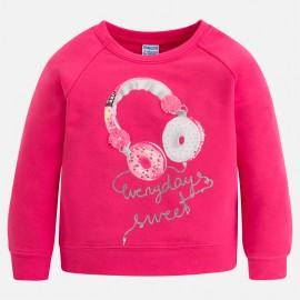 Mayoral 3402-92 Bluza dziewczęca słuchawki kolor Magenta