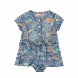 Boboli 215020-9791 Sukienka dla dziewczynki z majteczkami kolor niebieski