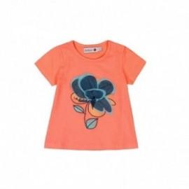 Boboli 215031-5062 Bluzka dziewczęca z aplikacją kolor pomarańcz