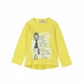 Boboli 245023-1108 Bluza dziewczęca z nadrukiem kolor żółty