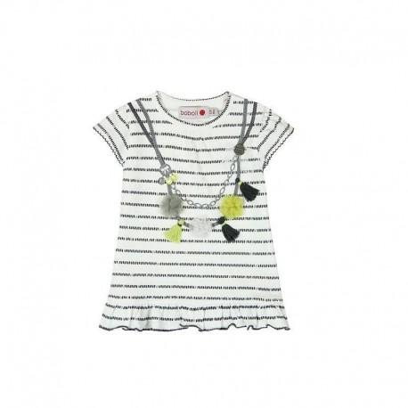 6cfef75137 Boboli 245045-9779 Sukienka dziewczęca z aplikacją kolor biały