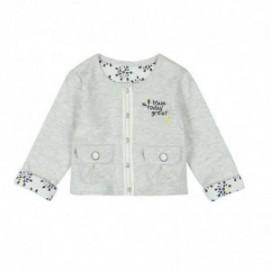 Boboli 245113-9798 Bluzo kurtka dziewczęca dwustronna zapinana kolor szary