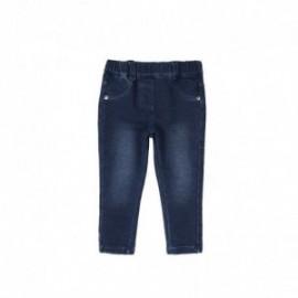 Boboli 295006-BLUE Spodnie dla dziewczynki bawełniane z kieszonkami kolor granat