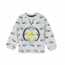 Boboli 345002-9778 Bluza chłopięca z nadrukiem kolor szary