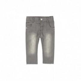 Boboli 395007-GREY Spodnie chłopięce jeans ze streczem kolor szary