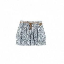 Boboli 405043-9741 Spódnica dla dziewczynki z paskiem w kwiatki kolor granat