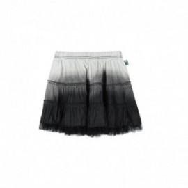 Boboli 415033-GREY Spódnica dla dziewczynki cieniowana z koronką kolor szary