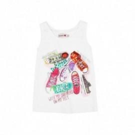 Boboli 415077-1100 Bluzka dla dziewczynki z nadrukiem kolor biały